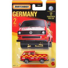 Машинка Matchbox Volkswagen Transporter Crew Cab (2021 Stars of Germany)