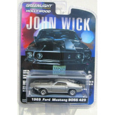 Машинка Greenlight John Wick 1969 Ford Mustang Boss 429 (2018 - Hollywood)